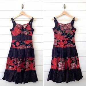 Anthropologie || Odille Floral Dots Midi Dress XS